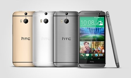 HTC One M8 Gunmetal Silver Gold