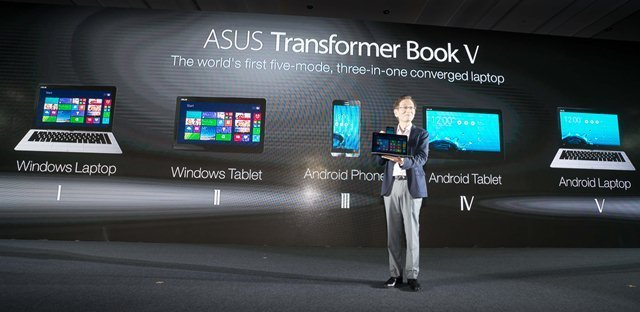 ASUS unveiled revolutionary Transformer Book V the worlds first five-mode three-in-one converged laptop