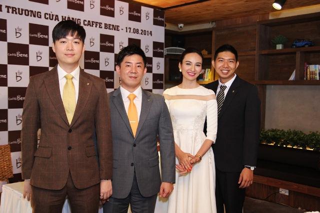 Do Minh Hoang - GĐ CaffeBene VN ông Lee Sang Jin Thanh vien HDQT Truong Tuan Anh - PGD CaffeBene VN