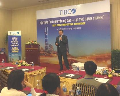 Ong Kevin Pool - Giam doc Cong nghe khu vuc Chau A TIBCO tai Hoi thao