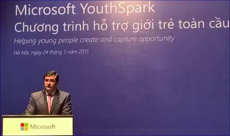 Microsoft đầu tư 3 triệu USD cho YouthSpark tại Việt Nam