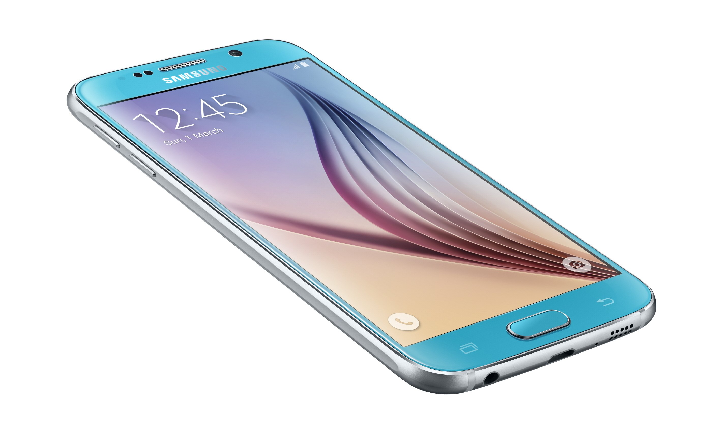 Galaxy S6 Left Front Dynamic Blue Topaz