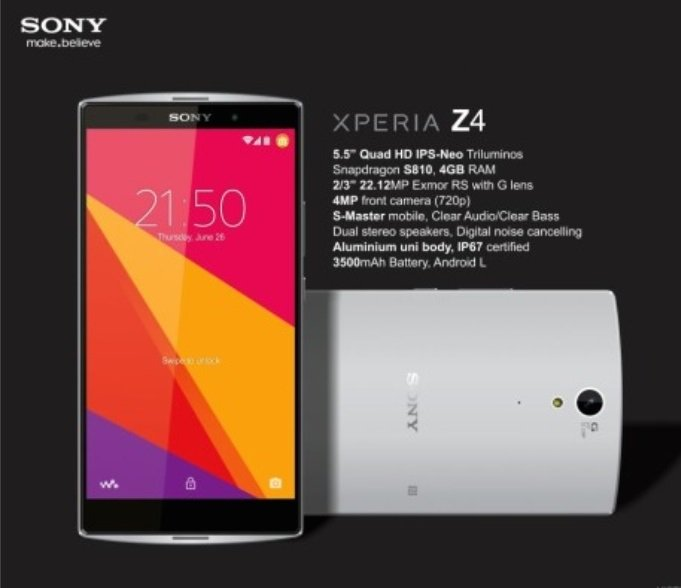 Sony ra mắt chiếc smartphone cao cấp Xperia Z4