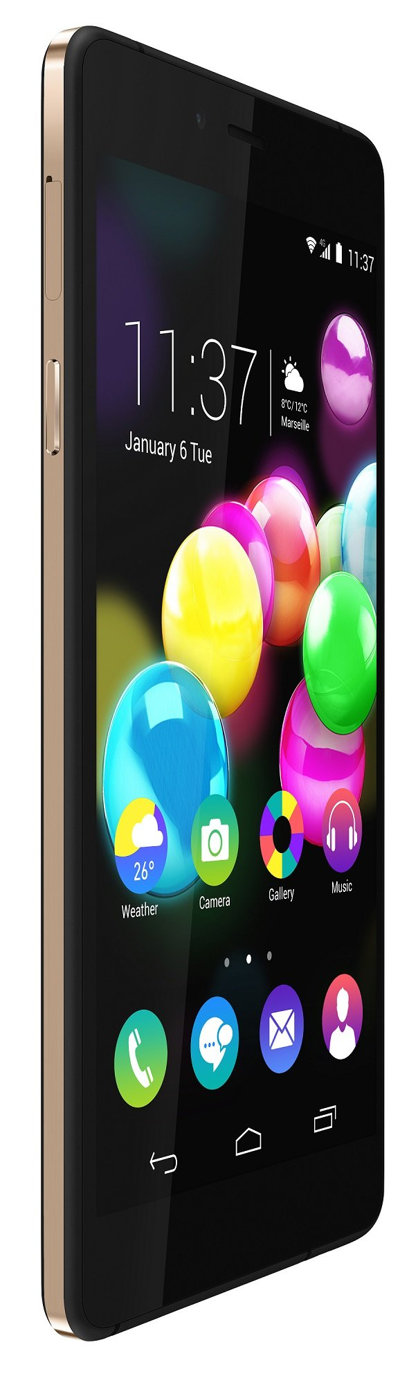Wiko HIGHWAY-PURE gold 3quart front 2