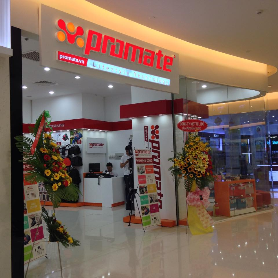 Khai trương shop phụ kiện Promate tại Crescent Mall