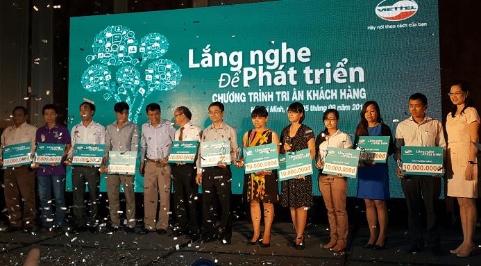 Viettel trao giải chương trình Lắng nghe để phát triển