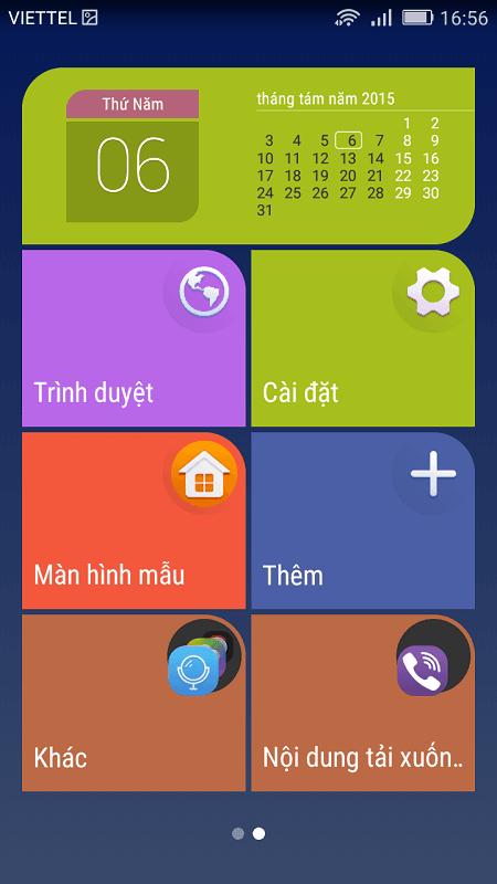 Hiển thị giao diện từng ô gạch - Honor 4C