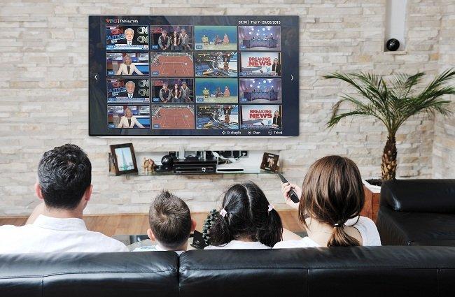 Tính năng PiP và Mosaic giúp khách hàng có thể theo dõi 2 hoặc 16 kênh cùng lúc trên màn hình tivi