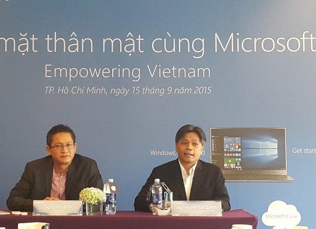 Microsoft mang tầm nhìn chiến lược hỗ trợ CNTT tại VN
