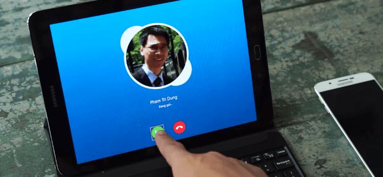 Samsung Galaxy Tab S2 - vua lam viec va tra loi dien thoai hay SMS