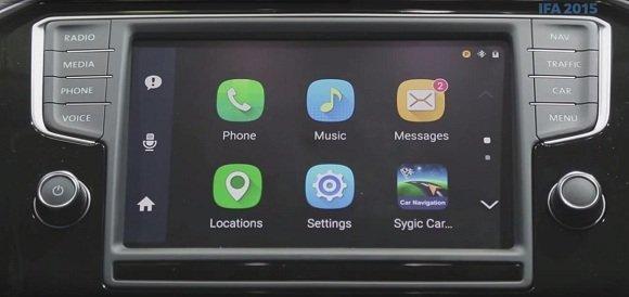 2 Nhờ Car Mode những chức năng trên điện thoại được sẽ hiển thị màn hình của ô tô