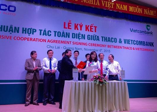 Vietcombank cam kết tài trợ gói tín dụng 4.500 tỷ đồng cho Thaco