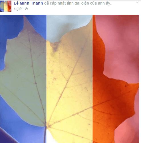 Avatar quốc kỳ Pháp phủ sóng mạng xã hội Facebook