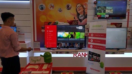 Sharp ra mắt Smart TV 4K dùng Android