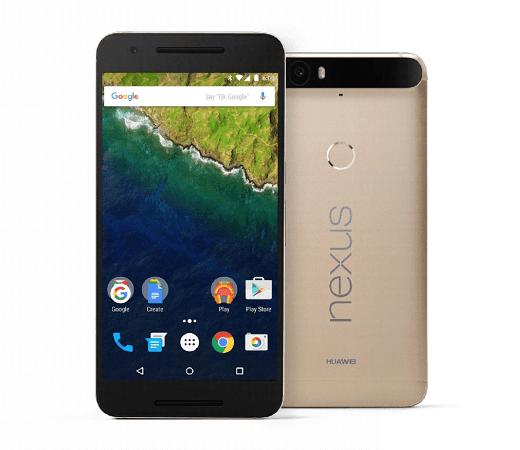 Huawei Gold Nexus 6P smartphone