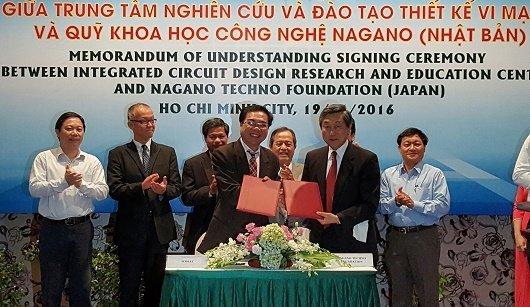 ICDREC hợp tác vi mạch với Quỹ KHCN tỉnh Nagano