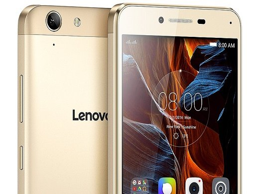 lenovo k5 gold front back crop